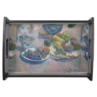 Still Life With Fruits by Paul Gauguin Serving Tray