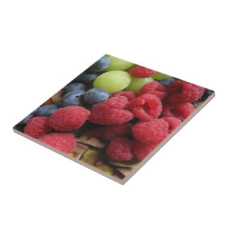 Still life with fruits tiles