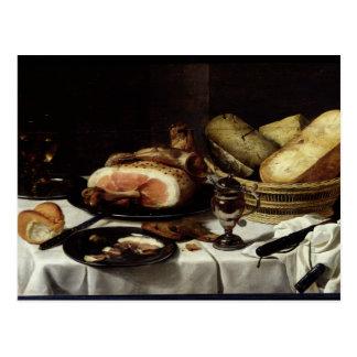 Still Life with Ham Postcard