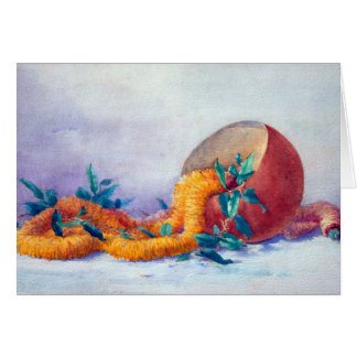Still Life with Ilima Lei and Coconut Card
