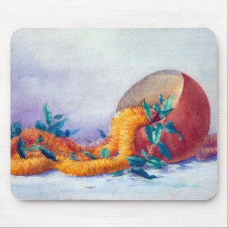 Still Life with Ilima Lei and Coconut Mouse Pad