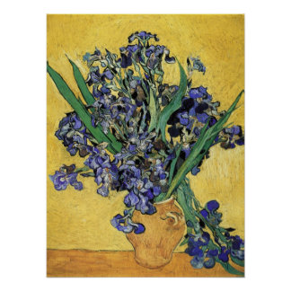 Still Life with Iris by Vincent van Gogh Posters