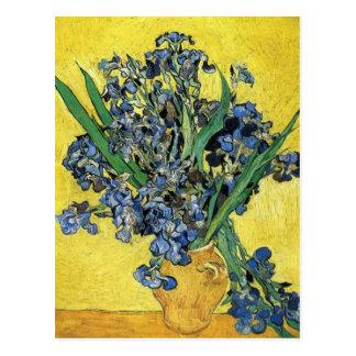 Still Life with Irises by Vincent Van Gogh Postcard