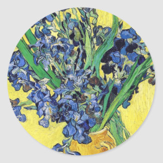 Still Life with Irises Vincent van Gogh Round Sticker