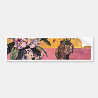 Still Life With Japanese Woodblock By Gauguin Paul Bumper Sticker