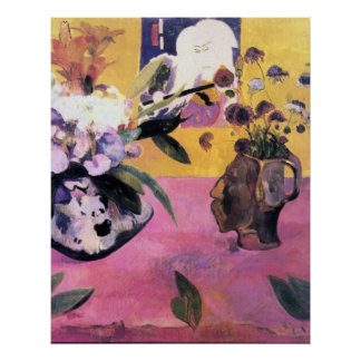 Still Life with Japanese Woodblock by Gauguin Posters
