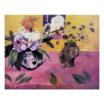 Still Life with Japanese Woodblock by Gauguin Poster