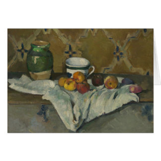 Still Life with Jar, Cup, and Apples Card