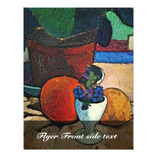 Still Life With Lemon And Orange Leaf Plant Full Color Flyer