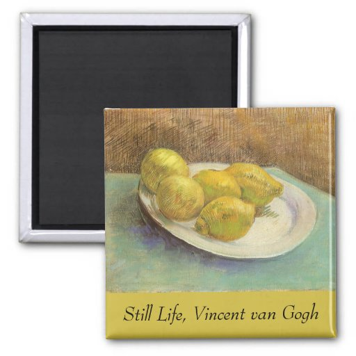 Still Life with Lemons on Plate; Vincent van Gogh Magnet