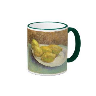 Still Life with Lemons on Plate; Vincent van Gogh Ringer Mug