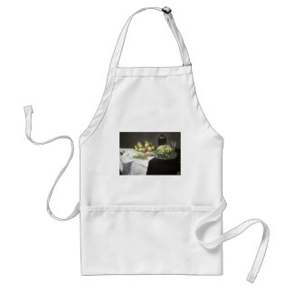 Still Life with Melon and Peaches by Manet Standard Apron