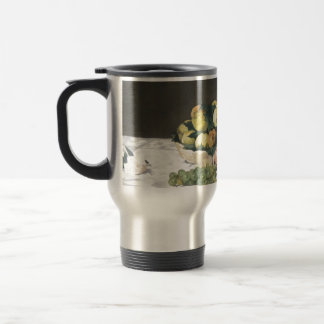 Still Life with Melon and Peaches by Manet Travel Mug