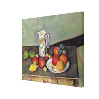 Still life with milk jug and fruit, c.1886-90 (oil canvas prints