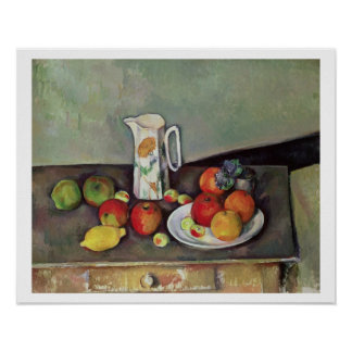 Still life with milk jug and fruit, c.1886-90 (oil poster
