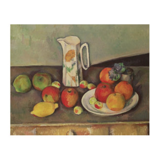 Still life with milk jug and fruit, c.1886-90 (oil wood print