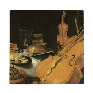 Still Life with Musical Instruments, 1623 Wood Coaster