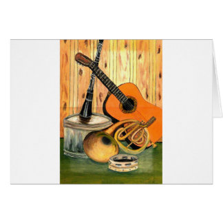 Still Life with Musical Instruments Card