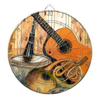 Still Life with Musical Instruments Dartboard