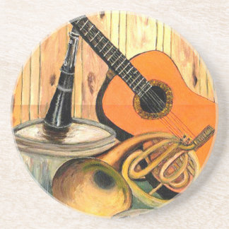 Still Life with Musical Instruments Drink Coaster