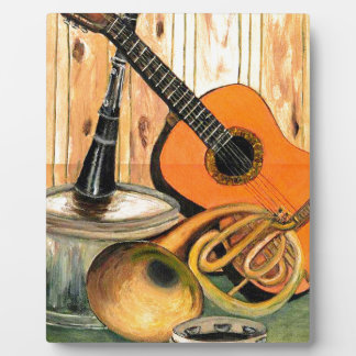 Still Life with Musical Instruments Photo Plaque