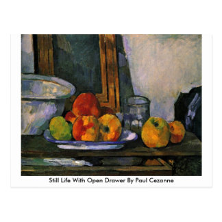 Still Life With Open Drawer By Paul Cezanne Postcard