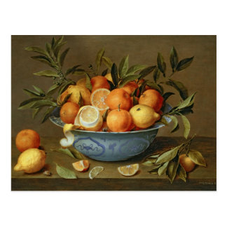 Still Life with Oranges and Lemons Postcard