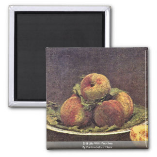 Still Life With Peaches By Fantin-Latour Henri Magnet