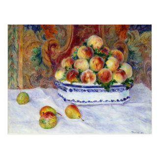 Still Life with Peaches by Renoir Postcard