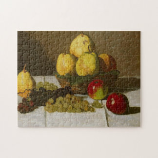 Still Life with Pears & Grapes Monet Fine Art Jigsaw Puzzle