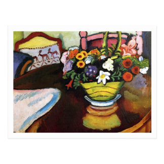 Still Life with Pillow by August Macke Post Cards