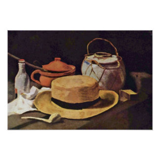 Still Life with Pipe and Hat by Vincent van Gogh Posters