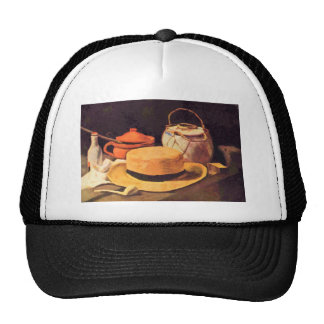 Still Life with Pipe and Straw Hat by Van Gogh Trucker Hat