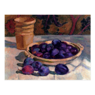 Still Life with Plums by Theo van Rysselberghe Postcard