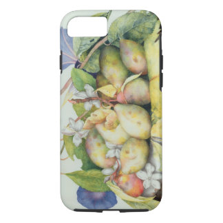 Still life with Plums, Walnuts and Jasmine (w/c on iPhone 7 Case