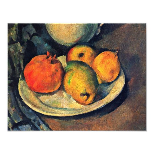 Still Life With Pomegranate And Pears Card