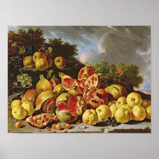 Still Life with pomegranates Poster