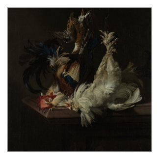Still Life with Poultry, van Aelst Poster