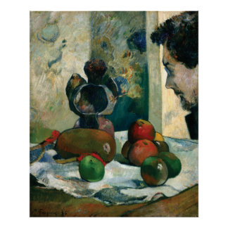 Still Life with Profile of Laval by Paul Gauguin Print