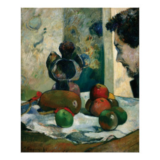 Still Life with Profile of Laval by Paul Gauguin Poster