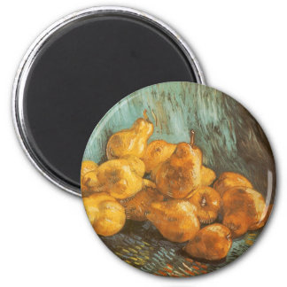Still Life with Quince Pears by Vincent van Gogh 6 Cm Round Magnet