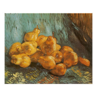 Still Life with Quince Pears by Vincent van Gogh Poster