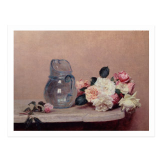 Still Life with Roses, 1889 (oil on canvas) Postcard