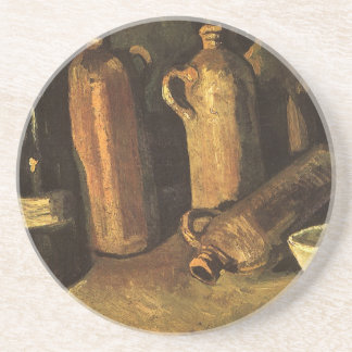 Still Life with Stone Bottles by Vincent van Gogh Drink Coasters