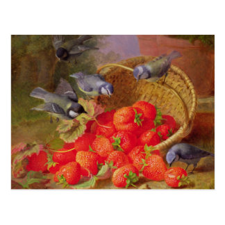 Still Life with Strawberries and Bluetits Postcard