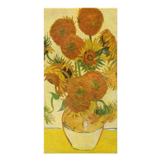 Still life with sunflowers by Vincent van Gogh Photo Card Template