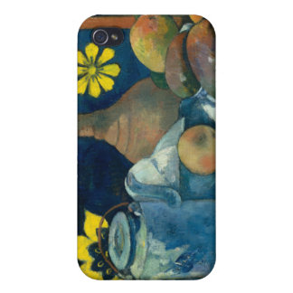 Still Life with Teapot and Fruit - Paul Gauguin iPhone 4/4S Covers