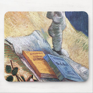 Still Life with torso and two novels by van Gogh Mousepad