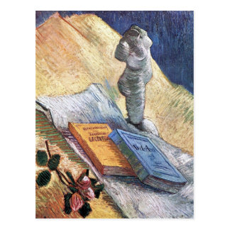 Still Life with torso and two novels by van Gogh Postcard
