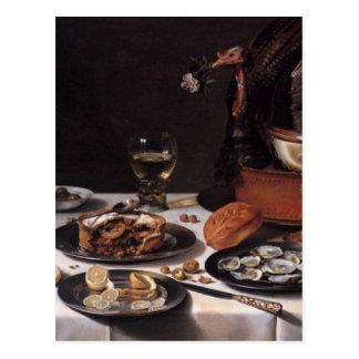 Still Life with Turkey Pie - Pieter Claesz Postcard